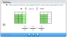 "Free Fractions Tools.These interactive, visual fractions tools are ideal for teacher-facilitated, whole-class instruction in fractions, ""Number Talks"" & for parents supporting their students at home. Each math tool is supported by Common Core State Standards alignment, key vocabulary, & IEP goals. In header click on Products & then Free Fraction Tools"