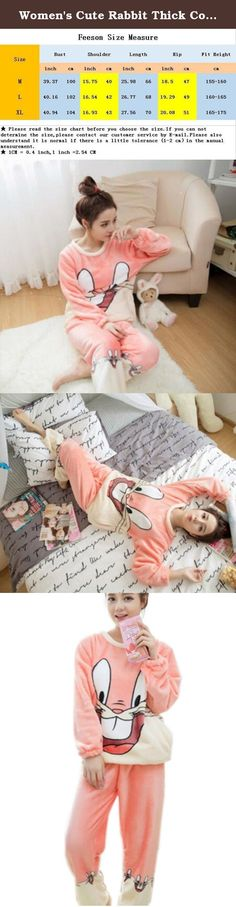 Women's Cute Rabbit Thick Coral Flannel Warm Pajama loungewear Set Pink M. 1.Welcome to our Feeson Store to shop around ! Our clothes are at good quality with a reasonable price,DO NOT MISS IT,come and buy!! 2.Our pajama sets are stretchy and well fit,which will look slim fit and touch comfortably,skin-friendly.With a reasonable price,you can get a pair of Cost-effective jeans,what are you waiting for? JUST BUY IT! 3.Please consider that we are Asian sellers,have a look at our own...