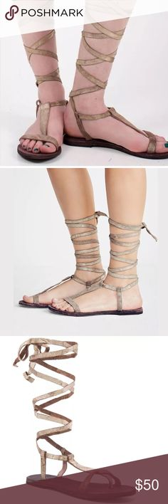 Free people dahlia nude suede gladiator Beautiful and brand new ! The color is more nude/tan than it appears in the pictures these are a size 39 which is supposed to be a size 9 but def fits smaller that's why I'm selling them these  would be best for either a size 8 or 8 1/2 so I am listing them as an 8 Free People Shoes Sandals