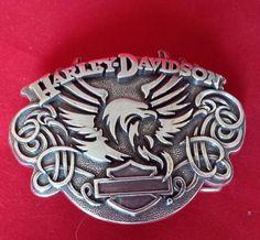 2007 HARLEY DAVIDSON MOTORCYLE CLUB BELT BUCKLE Eagle Silver Tone Metal  TAIWAN. Boucle De CeintureBouclesNœuds ... fe24f53f7dc