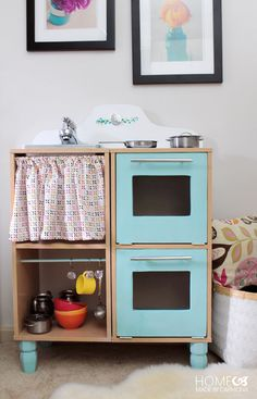 DIY Play Kitchen for