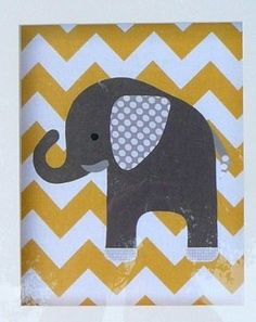 Elephant picture on stretched canvas by LittleLoveDecor on Etsy, $15.00
