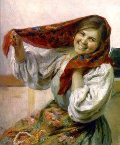 Fedot Sychkov - A girl. 1945