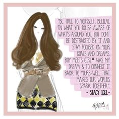 "Fashcom on Instagram: ""Follow your dreams! Advice from @stacyigel founder of @boymeetsgirlusa • #illustration #believe #boymeetsgirl #fashcom #comic #dreams"""