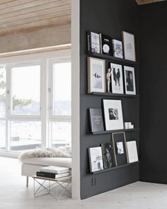Best Floor To Ceiling Windows White Black Interior