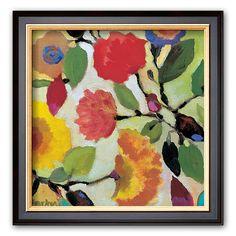 Art.com Floral Tile IV Framed Art Print by Kim Parker