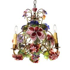 Beaded Flower Chandelier..hand-sewn flowers...gorgeous!!