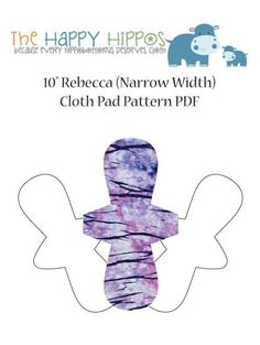 The Happy Hippos Rebecca Narrow Cloth Pad Sewing PDF Cloth Pad Pattern and Instructions. Sewing Patterns Free, Sewing Tutorials, Mama Cloth, Menstrual Pads, Nursing Pads, Cloth Pads, Save The Bees, New Crafts, Photo Tutorial