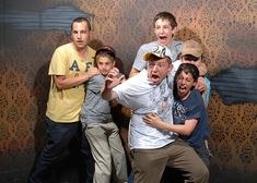 Scared Bros At A Haunted House. This is freaking hilarious. Dozens of pictures taken of guys (and a few girls) going through a haunted house in California. I wish I knew what it was that made them all jump. And why so many people go through like a train.