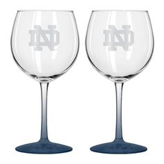 NCAA Notre Dame Fighting Irish Satin Etch Balloon Wine Glass Set (2-Pack), 20-Ounce * Check this awesome product by going to the link at the image.