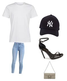 """T1"" by morgan-277 on Polyvore featuring La Perla, Yves Saint Laurent, New Era and Gucci"