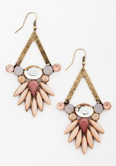 Neutral Luminance Earrings.  #pink #modcloth