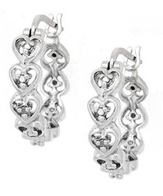 @Overstock - Captivating diamond accent hoop earrings shine with modern sophistication in polished sterling silverHoops feature beautiful heart designsThis lovely jewelry makes a wonderful gifthttp://www.overstock.com/Jewelry-Watches/DB-Designs-Sterling-Silver-Diamond-Accent-Heart-Hoop-Earrings/2621869/product.html?CID=214117 $25.64