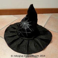 Tutorial cappello da strega in pannolenci - RobyGiup handmade  DIY   tutorial  Halloween Cappello ac318054d9aa