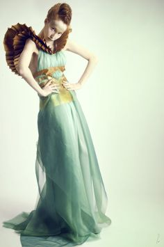 """Dress, """"Chimaera"""" collection preview SS13, designed by Leyre Valiente - photo by Davinci White"""