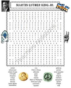 Martin Luther King Jr. Word Search Puzzle from DayWorks on TeachersNotebook.com -  (1 page)  - Martin Luther King Jr. word search puzzle. A history lesson in itself on Dr. Martin Luther King Jr. 30 words honoring the life and legacy of Dr. Martin Luther King Jr.