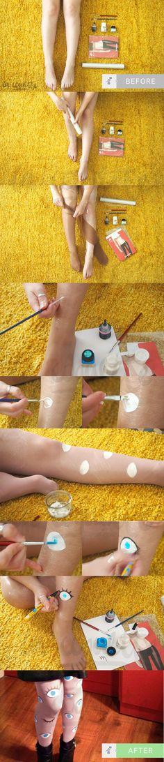 DIY Eye Tights by Coco* ~ Medias de ojos