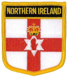ed2517aa5f8 Northern Ireland (Shield) Embroidered Patch 6cm X 7cm (2 1/2