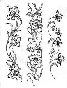 T T Dianthus stacks maybe Bookmark Folk Embroidery, Cross Stitch Embroidery, Embroidery Patterns, Motifs Art Nouveau, Illustration Art Nouveau, Jugendstil Design, Pyrography Patterns, Wood Burning Patterns, Stencil Patterns
