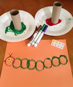 55 Ideas Spring Art Projects For Toddlers Hungry Caterpillar Insect Crafts, Bug Crafts, Daycare Crafts, Classroom Crafts, Pre School Crafts, Dragon Crafts, Horse Crafts, Toddler Arts And Crafts, Toddler Art Projects