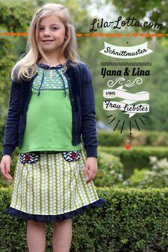 Lila-Lotta.com / Schnittmuster Yana und Lina von Frau Liebstes ...