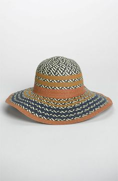 BCBGeneration Pop Stripe Floppy Sun Hat available at #Nordstrom