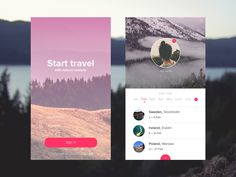 Concept of program about travel on Behance
