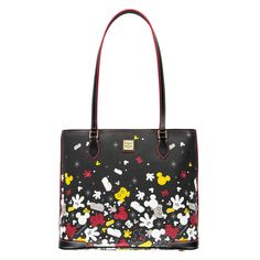49ed72520 Let the best parts of Mickey Mouse impart a wonderful sense of style to  your wardrobe with this spacious leather tote by Dooney & Bourke.