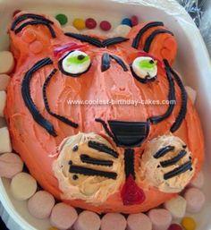 Awesome. Homemade Tiger Cake