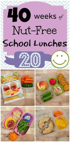 Kids School Lunch Ideas - Week 20 of 40 Weeks of Nut Free lunchbox packing | Stuffed Suitcase
