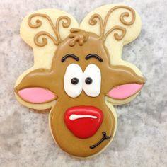 Rudy the reindeer  - sugar cookies with royal icing