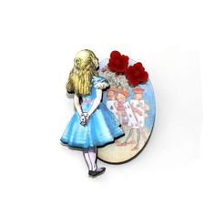 Alice in Wonderland Brooch Painting the Roses by LaurasJewellery, £7.00
