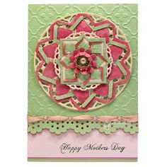 Mother's Day Card using Spellbinder dies