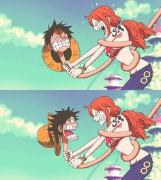 they are very cute but Nami seems angry
