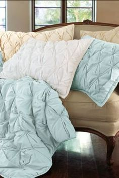 Ingrid Smocked bedding for guest