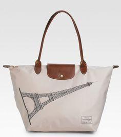 Buy Best Portable Longchamp Eiffel Tower Bags Black