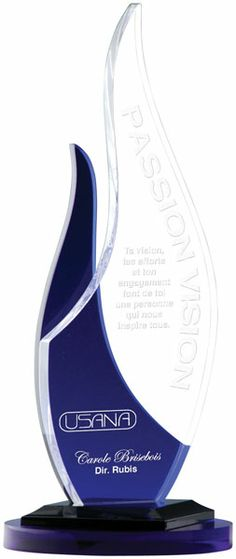 Freeform Flame Acrylic Award