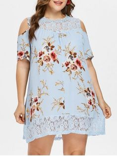 Plus Size Flower Lace Tunic Dress Plus Size Lace Dress, Plus Size Dresses, Plus Size Outfits, Shirred Dress, Belted Dress, Curvy Fashion, Plus Size Fashion, Trendy Dresses, Summer Dresses