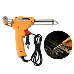 soldering iron manual send gun with bracket section GB (yellow) Welding Equipment, Welding Tools, Electric Welding Machine, Soldering Iron, Ham Radio, Drill, Manual, Guns, Home And Garden