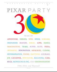 Pixar Party Sponsorship