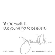 This #Truthbomb came from my post: Negotiating what you're worth: believe + get centered. Click to read the full post.