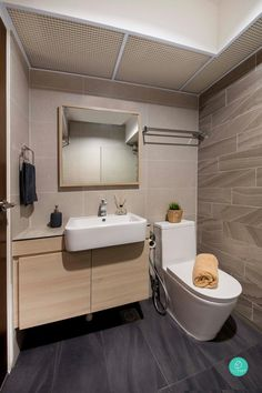 Comfortable, unassuming and yet timeless, this BTO is the perfect classic home decor for young couples Classic Toilets, Toilet Design, Classic Home Decor, Home Renovation, Scandinavian Design, Home Interior Design, Modern Contemporary, New Homes, House Design