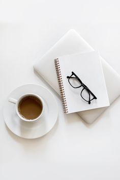 Flat lay with coffee and notebook ~ Business Photos ~ Creative Market