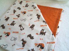 Double sided flannel swaddling blanket.