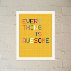 Everything Is Awesome - Multicolour Lego inspired poster - Child's room -  Wall Art - Printable Poster - Instant Download