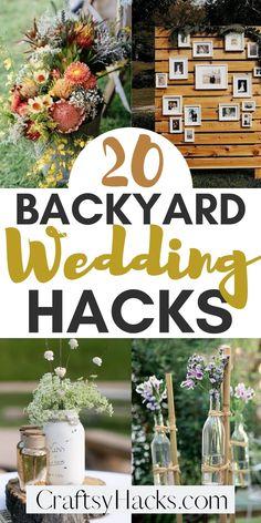 Backyard Wedding Decorations, Diy Outdoor Weddings, Outdoor Wedding Reception, Easy Weddings, Backyard Weddings, Wedding Receptions, Diy Wedding Tips, Diy Wedding Crafts, Lake Wedding Ideas