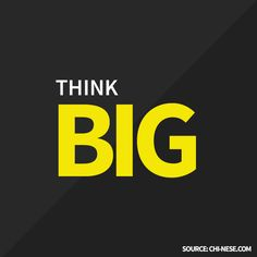 Think BIG. #lawofattraction #thinkbig #positiveaffirmations List Of Positive Words, Staying Positive, Types Of Motivation, Think Big, Power Of Positivity, Words Of Encouragement, Positive Affirmations, Law Of Attraction, Fitness
