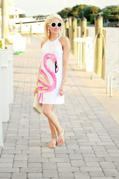Teggy French: THE ULTIMATE FLAMINGO DRESS