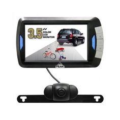 Wireless Backup Camera LCD Rear View Car SUV Color 3.5 Monitor System Peak Safe #PEAK
