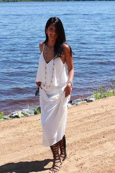 Always loved long walks on the beach - wearing a Zara maxi dress